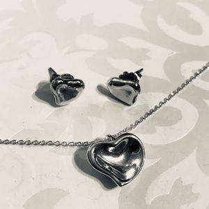 Tiffany & Co. Jewelry - Tiffany & Co. Elsa Peretti Necklace & Earring Set